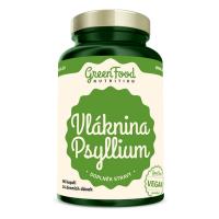 GREENFOOD NUTRITION Vláknina psyllium 96 kapslí