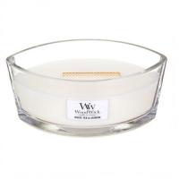 WOODWICK Vonná svíčka loď White Tea & Jasmine 453,6 g