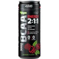 VPLab Energetický nápoj - Sycené BCAA s kofeinem, L-karnitinem a vitamíny, malinová příchuť 330 ml