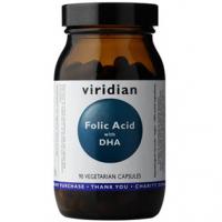 VIRIDIAN Nutrition Folic Acid with DHA  90 kapslí