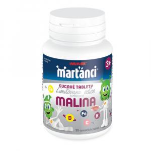 WALMARK Marťánci cucavé tablety malina 30 tablet