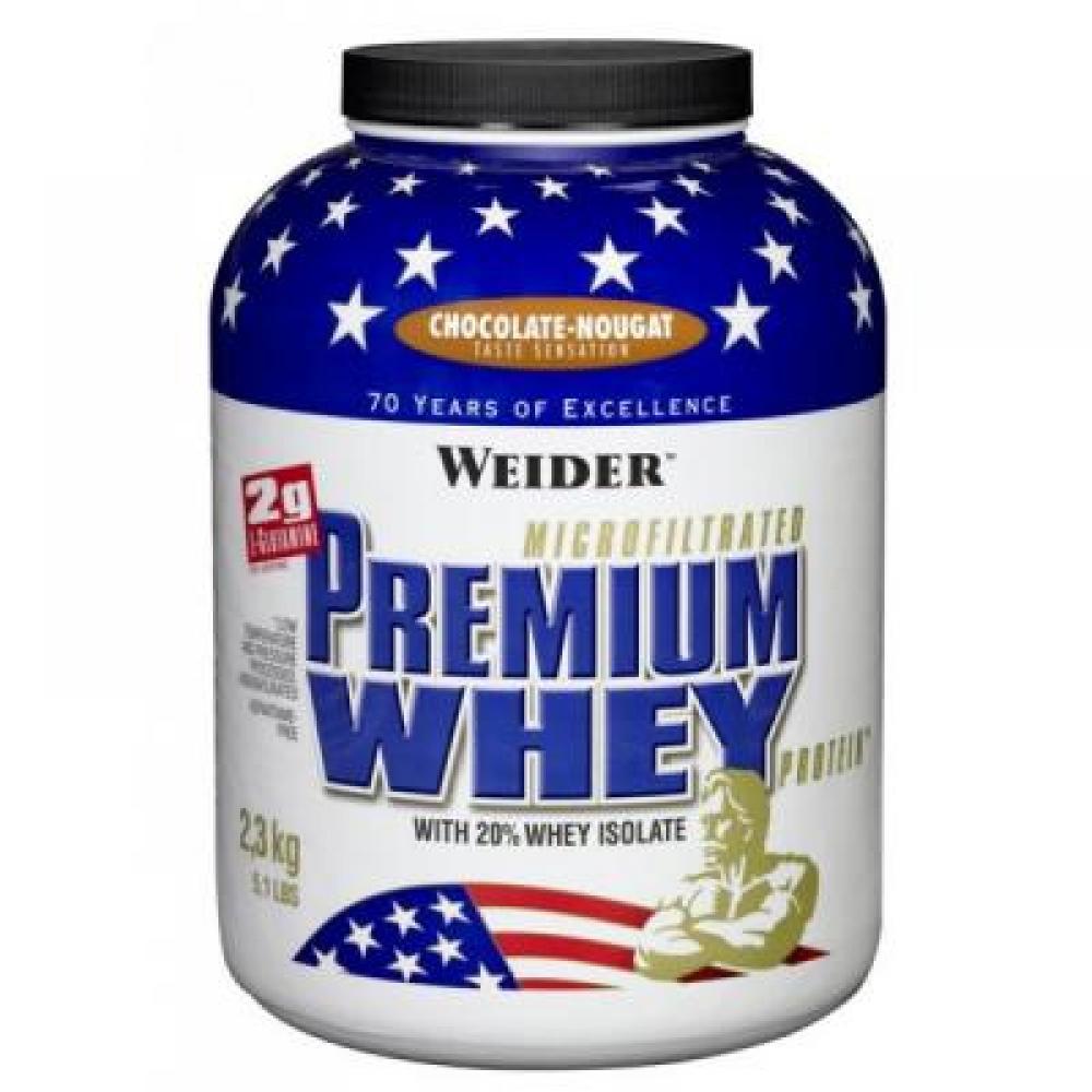 Premium Whey, syrovátkový protein, Weider, 2300 g - Vanilka-Karamel