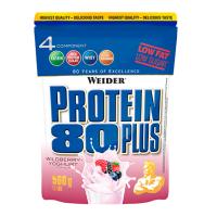 WEIDER Protein 80 plus příchuť lesní plody a jogurt 500 g