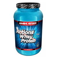 AMINOSTAR Whey protein actions 65% příchuť jahoda 2000 g