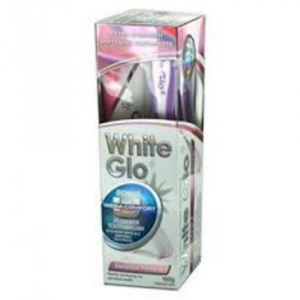 WHITE GLO Sensitive Forte 150 g  + plus kartáček na zuby a mezizubní kartáčky