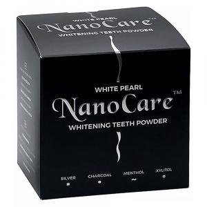 WHITE PEARL NanoCare bělicí zubní pudr s aktivním uhlím 30 g