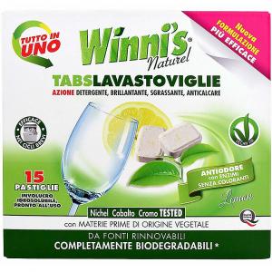WINNI´S Tabs Lavastoviglie – hypoalergenní multifunkční tablety do myčky nádobí 15 ks