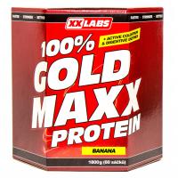 XXLABS 100% Gold maxx protein banán sáčky 60 x 30 g