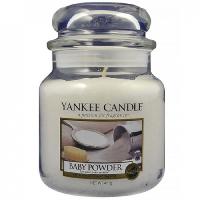 YANKEE CANDLE Classic střední Svíčka 411 g, Vůně: Baby Powder