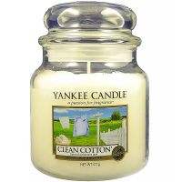 YANKEE CANDLE Classic Clean Cotton střední 411 g