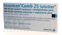 INSUMAN COMB 25  5X3ML/300UT SOLOSTAR Injekční suspenze
