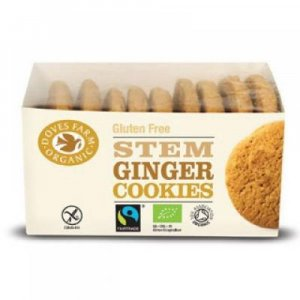 DOVES FARM BIO a FAIR TRADE Zázvorové cookies bez lepku 150 g