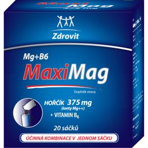 ZDROVIT MaxiMag Hořčík 375 mg + vitamín B6 granulát 20 sáčků