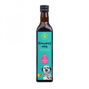 ZELENÁ ZEMĚ BIO Konopný olej pro zvířata  500 ml